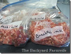 breakfast sausage - The Backyard Farmwife