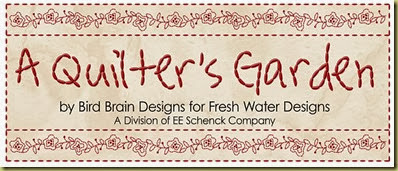 A Quilter's Garden label
