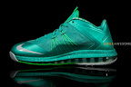 nike lebron 10 low ss green white 2 04 LEBRON X LOW, KOBE 8 and KD V   Nike Easter Collection