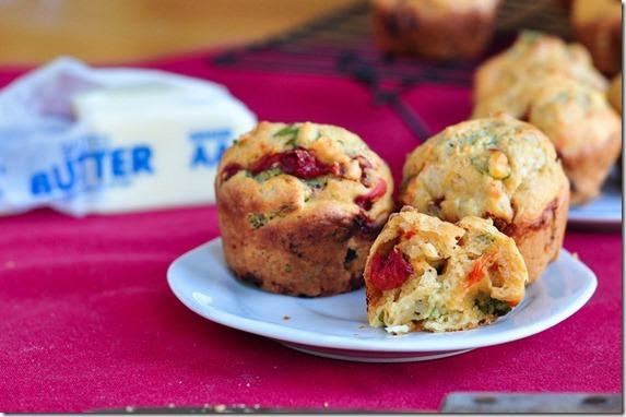 basil feta pepper muffins-5909