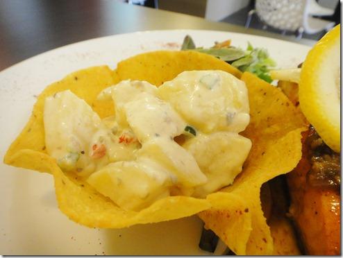 9. Potato Salad served with Grilled Salmon @ Windsor Dining, Melaka