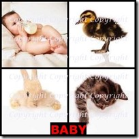 BABY- 4 Pics 1 Word Answers 3 Letters