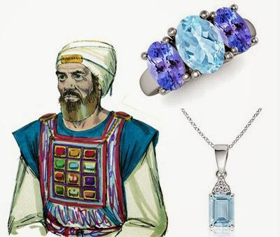 priest aaron breastplate aquamarine stone