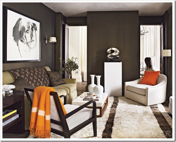 dark coloured walls elle decor