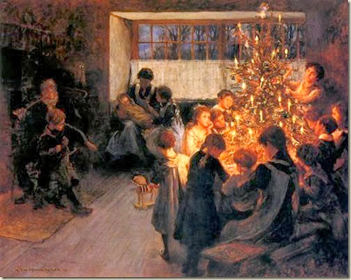 Albert chevalier Tayler,  L'arbre de Noël