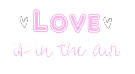 love is in the air graphic