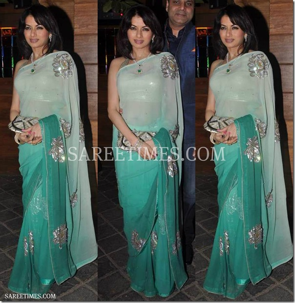 Bhagyashree_Dual_Color_Saree