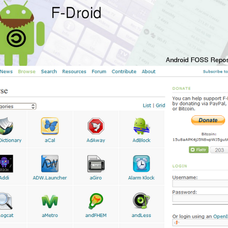 F-Droid: Android Market of Free and Open Source Apps