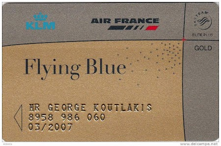 Card Flying Blue