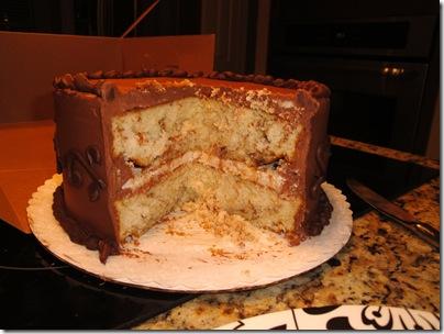 5.  Cut grooms cake