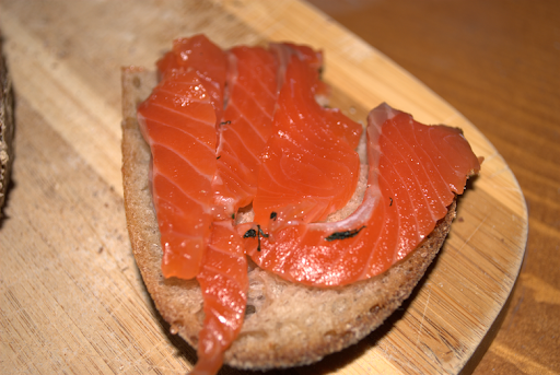 rye with homemade gravlax