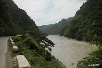 East-west Highway along the Trishuli river, Nepal