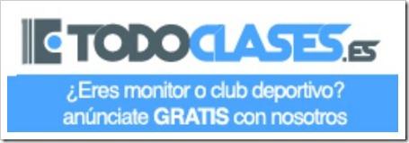 Todoclases.es es un buscador web a nivel nacional especializado en monitores deportivos y empresas dedicadas a la práctica y enseñanza de actividades deportivas.
