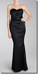 Coast Black Satin Dress