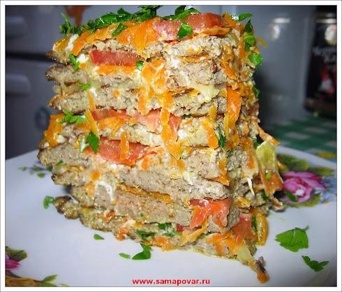 Торт печеночый. www.samapovar.com