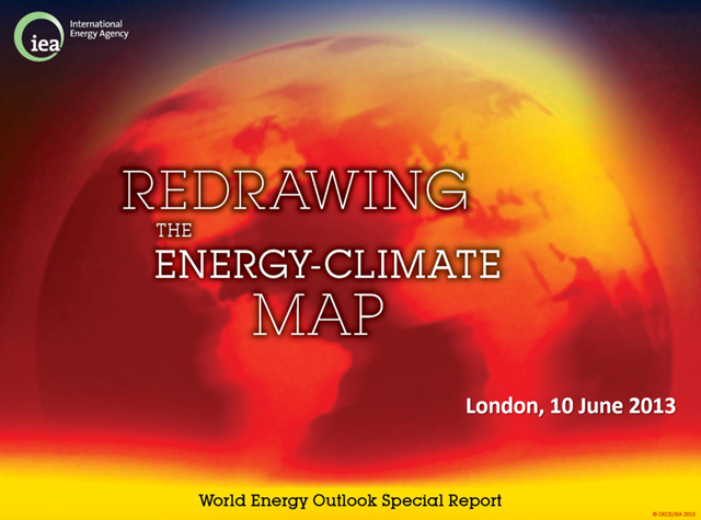 'Redrawing the energy-climate map', presentation by the IEA in London, 10 June 2013. Graphic: IEA