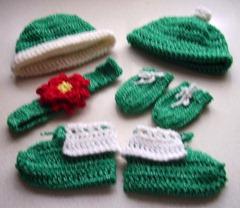 green sparkle pieces