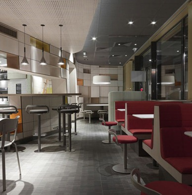 mcdonalds interior design restaurant