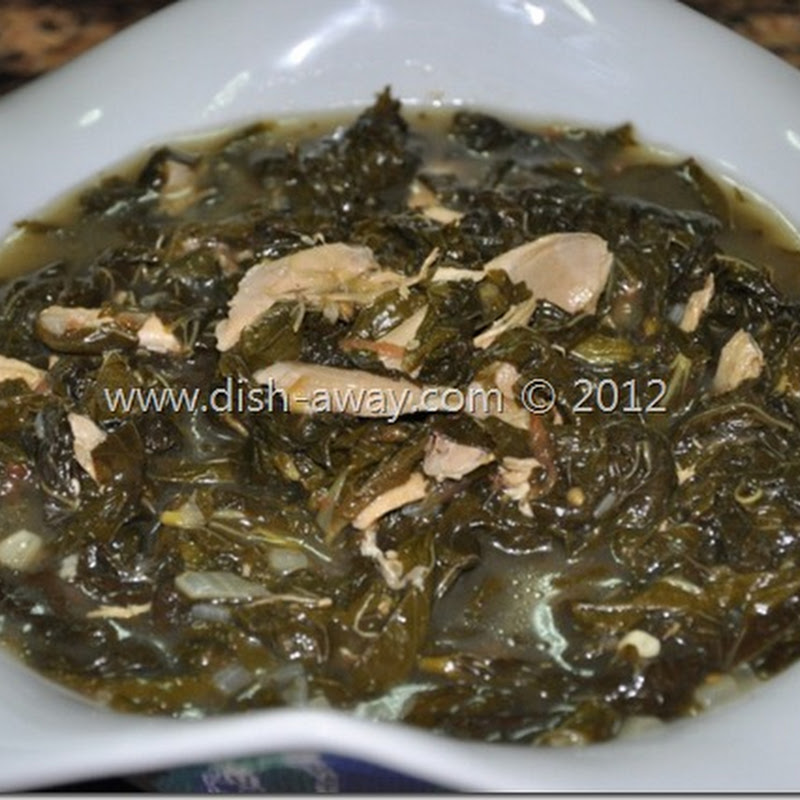 Molokhia (Jews Mallow) with Chicken Recipe