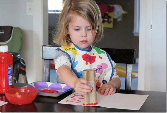 Hannah stamping 2