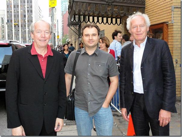 """Люк Дарденн, я и Жан-Пьер Дарденн после показа """"Мальчика с велосипедом"""""""