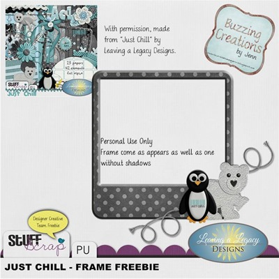 Leaving a Legacy Designs - Just Chill - Frame Freebie Preview