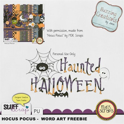 MDK Scraps - Hocus Pocus - Wordart Freebie Preview