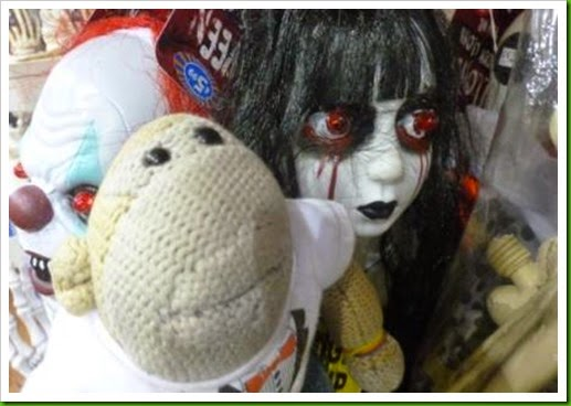 scary eyed Halloween doll B M Bargains