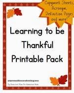 Year Round Homeschooling - Thankful Pack