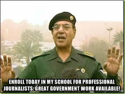 baghdad bob&#39;s school of journolism