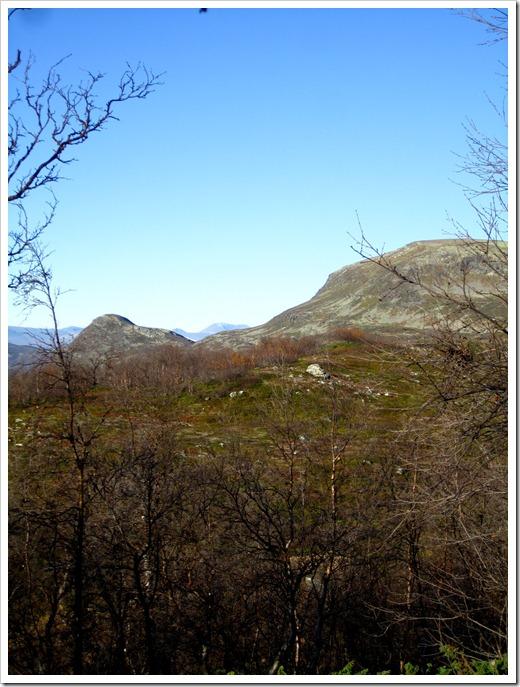 ...åter mellan de två kullarna där borta (Huomnás till vänster och Favnoajvve till höger).