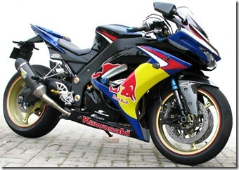 Modified Kawasaki Ninja 250R Red Bull