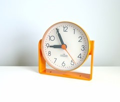 die Hausuhr orange wall or table clock