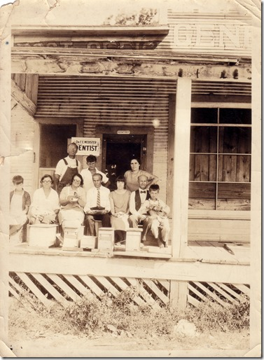 Fred and Debs (Bottom Right) at New Llano, Louisiana August 12, 1926 Sign Removed