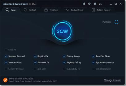 IObit Advanced System Care PRO v8.1.0.652 screenshoot