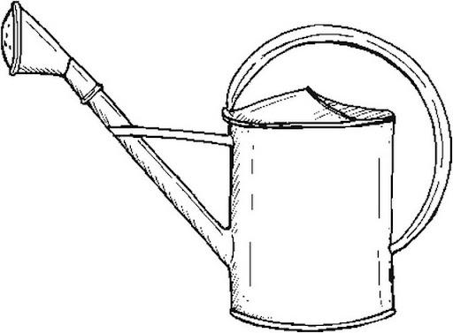 Dibujo de una regadera para colorear - Imagui
