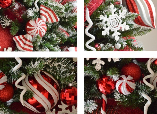 peppermint Christmas tree ornaments u-createcrafts.com
