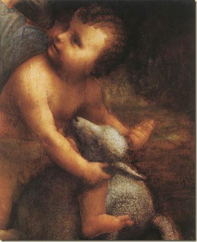 Détail de La Vierge, l'enfant Jésus et St Anne