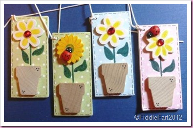 Flower Pot Wooden tags 1