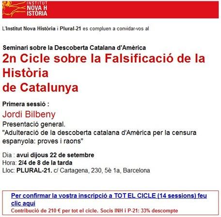 falsificació de la Història de Catalunya