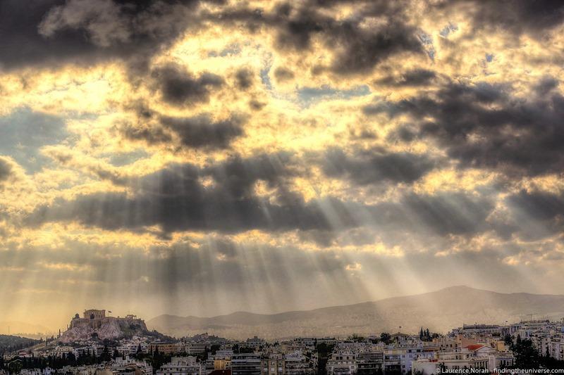 Acropolis sun beams athens 1 - scaled