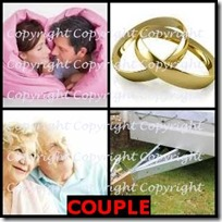 COUPLE- 4 Pics 1 Word Answers 3 Letters