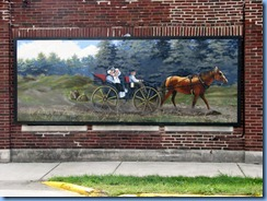 4176 Indiana - Ligonier, IN - Lincoln Highway  (Lincolnway W) - mural Lincolnway W at corner of Cavin St - Mier Carriage