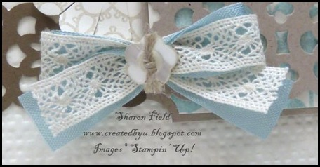 CS39A, Challenge, Design Team, New Product, Catalog, Idea Book, 2011-12, card stock, big shot, delicate doilies, my friend, ticket corner punch, detail, lace border, tips, sharon field, created by you, createdbyu