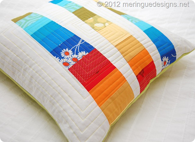 rainbow stripes pillow 006