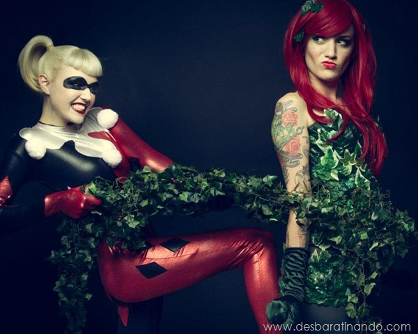 Harley-Quinn-poison-Ivy-arlequina-hera-venenosa-cosplay-desbaratinando (3)