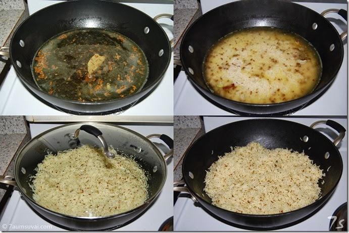 Jeera rice process