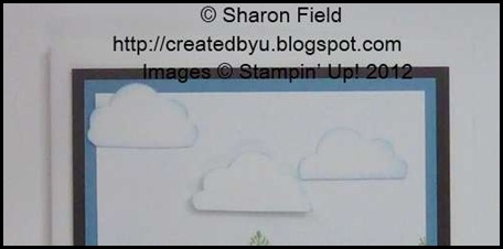 trim the bottom edge of the cupcake frosting to vary cloud sizes