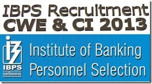 IBPS Recruitment 2013 PO and Clerk