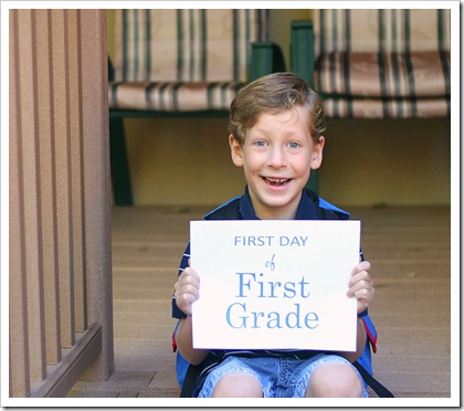 sean first day of 1st grade
